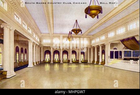 South Shore Country Club, Chicago, Illinois, USA -- the Ballroom.      Date: circa 1910 - Stock Image
