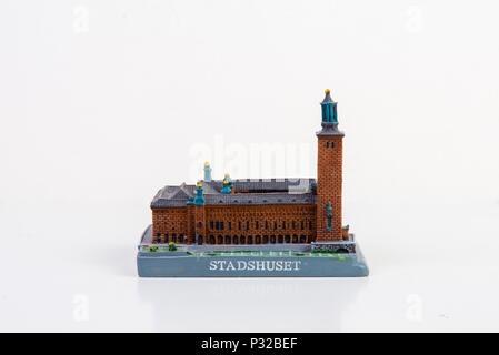 The Souvenir model of the Stockholm City hall - Stock Image