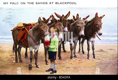 Old vintage seaside picture postcard  Blackpool EDITORIAL USE ONLY - Stock Image
