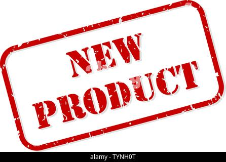 New product red rubber stamp vector isolated - Stock Image