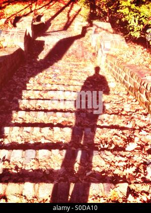 Cast shadow - Stock Image