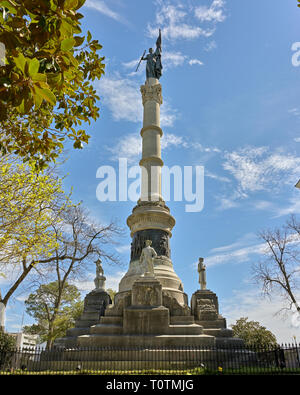 Confederate soldiers monument on the grounds of the Alabama capitol in Montgomery Alabama, USA commemorating U.S. Civil War soldiers from Alabama. - Stock Image