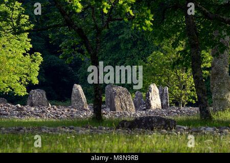 Templewood Temple Wood 4000+ year prehistoric megalithic stone circle burial site. Kilmartin Valley, Argyll, Scotland. - Stock Image