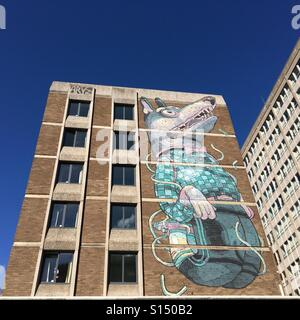 Street art on a building in Bristol - Stock Image