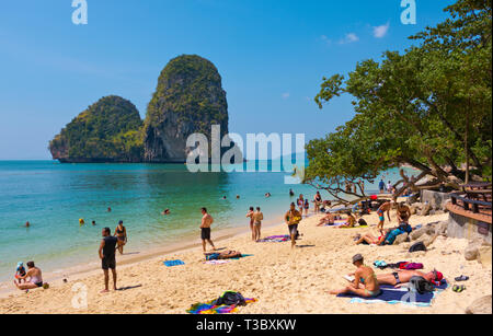 Ao Phra Nang Beach, Railay, Krabi province, Thailand - Stock Image