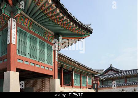 Jipgyeongdang Hall at the Gyeongbokgung Palace, Seoul, South Korea - Stock Image