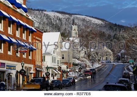 Downtown Camden, Maine, USA - Stock Image