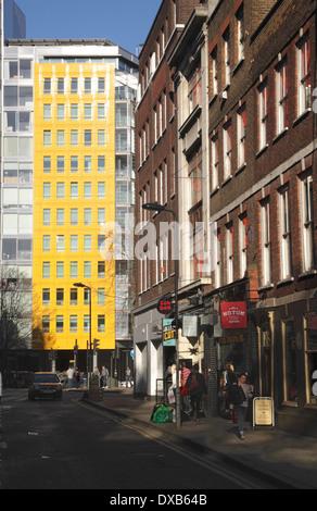 Denmark Street in central London - Stock Image