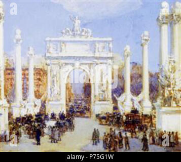 Work by Childe Hassam . before 1935 136 Hassam - dewey-s-arch - Stock Image