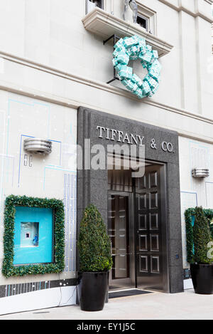 Tiffany & Co. on Rodeo drive, Beverly Hills, Los Angeles, California. - Stock Image