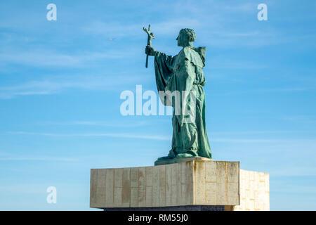 Statue Of Saint Goncalo de Lagos Algarve Portugal Patron Saint Of Lagos Fishermen - Stock Image
