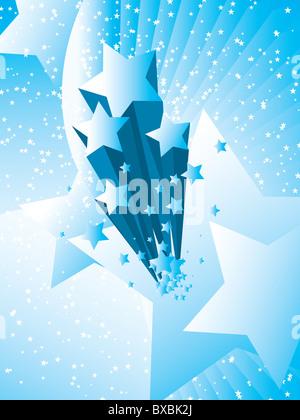 Stars burst vector illustration background - Stock Image