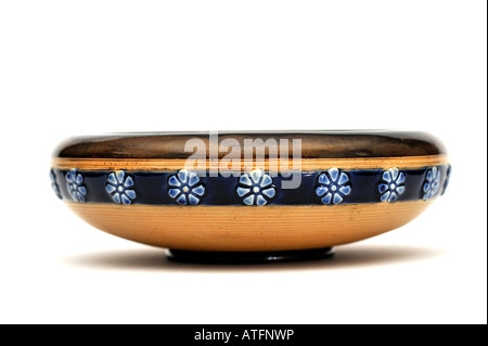 Doulton Lambeth Glazed Stoneware Dish 1920s EDITORIAL USE ONLY - Stock Image