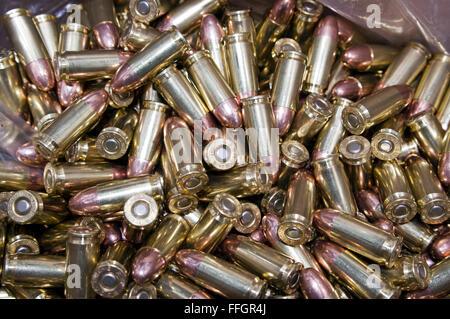 bulk 9mm bullets - Stock Image