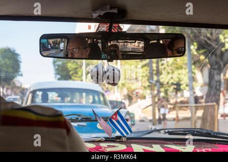 Cuba, Havana. View from inside taxi. Credit as: Wendy Kaveney / Jaynes Gallery / DanitaDelimont.com - Stock Image