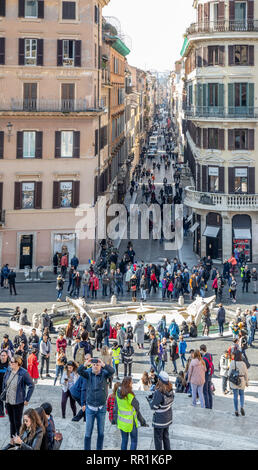 Images on and around the Spanish Steps in Rome Italy - Stock Image