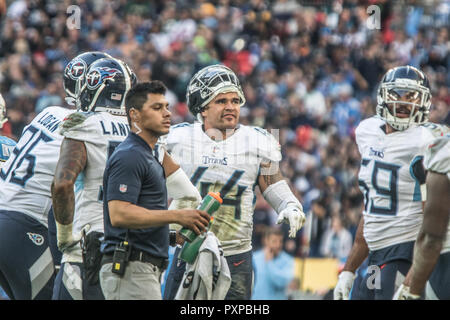21st October 2018 LONDON, ENG - NFL: OCT 21 International Series - Titans at Chargers  Tennessee Titans Linebacker Kamalei Correa (44)- Credit Glamourstock - Stock Image