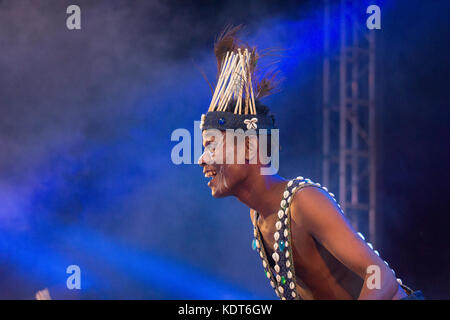 Siddi Badshah Dhamal dance of tribes of India settled from Africa. - Stock Image