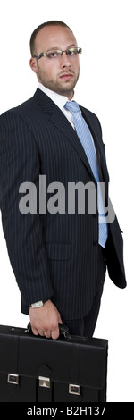 serious businessman on isolated background - Stock Image