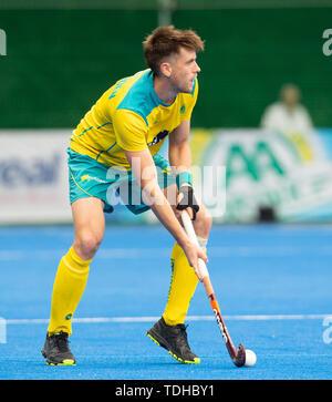 Krefeld, Germany, June 16 2019, hockey, men, FIH Pro League, Germany vs. Australia:  Eddie Ockenden (Australia) controls the ball.  Credit: Juergen Schwarz/Alamy Live News - Stock Image