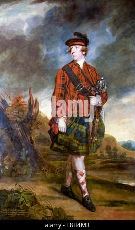 Sir Joshua Reynolds, Portrait of John Murray, 4th Earl of Dunmore (Lord Dunmore) 1765 - Stock Image