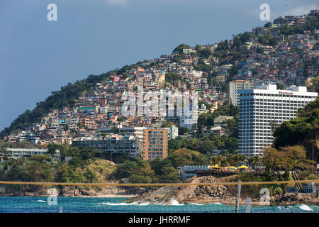 Vidigal Favela in Rio de Janeiro - Stock Image