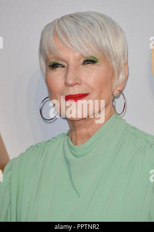 London, UK. 27th September 2018. Maye Musk attend A Star Is Born UK Premiere at Vue Cinemas, Leicester Square, London, UK 27 September 2018. Credit: Picture Capital/Alamy Live News - Stock Image