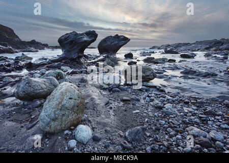 Heybrook Bay in the South Hams District of Devon - Stock Image