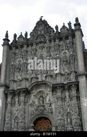 Metropolitan Cathedral, Zocalo Square, Plaza de la Constitucion, Mexico City, Mexico - Stock Image