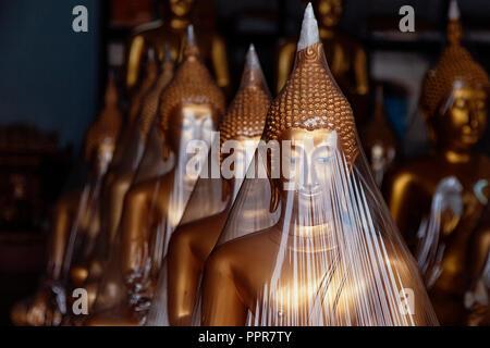 Buddha statues in Bangkok, Thailand - Stock Image