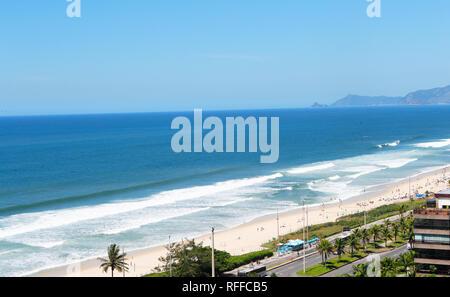 Barra de Tijuca beach. Rio de Janeiro. Brazil - Stock Image