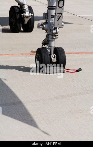 Aircraft undercarriage detail, Mirage F1 - Stock Image