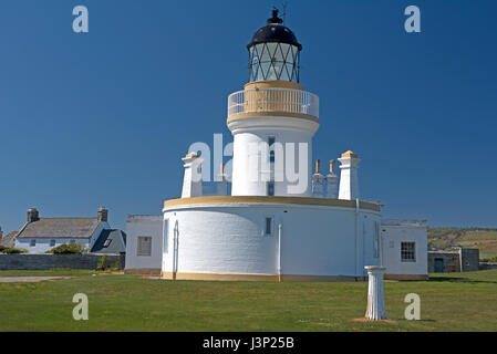 Channory Lighthouse at Fortrose on the Moray Firth on the Black Isle,Highland Region. Scotland. - Stock Image