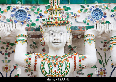 Caryatid at Wat Arun, Bangkok, Thailand. - Stock Image