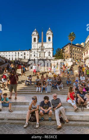 Spanish Steps, Rome, Italy - Stock Image