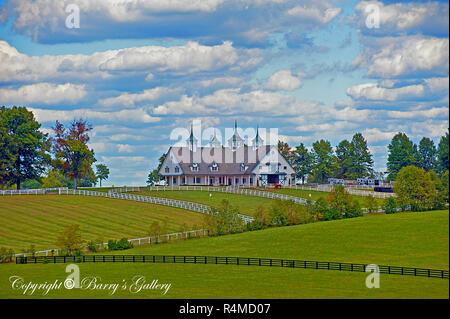 Manchester Barn in Lexington Kentucky - Stock Image