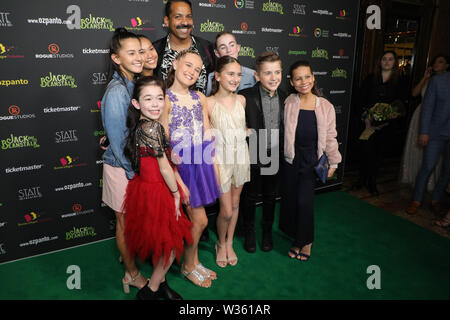 Sydney, Australia. 12th July 2019. Jack and the Beanstalk Giant 3D musical spectacular red carpet at the State Theatre. Credit: Richard Milnes/Alamy Live News - Stock Image