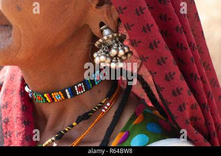 Rabari woman necklace - Stock Image