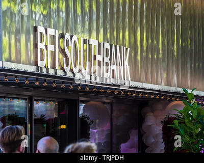BFI Southbank - the entrance to the British Film Institute Southbank Cinema on London's Southbank complex - Stock Image