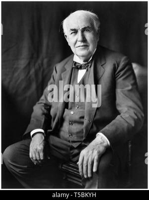 Thomas Edison (1847-1931), portrait, c. 1922 - Stock Image