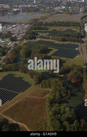 Solar panels areal Pennsylvania - Stock Image
