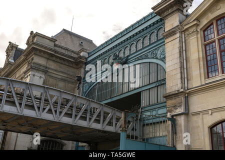 PARIS, FRANCE, Austerlitz train and metro station, one of the six large terminus railway stations in Paris. Situated on the left bank of the Seine in  - Stock Image