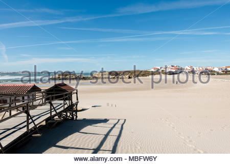 Baleal Beach in November. Silver Coast Portugal - Stock Image