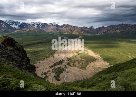 Mountain Range, Denali National Park, Alaska - Stock Image