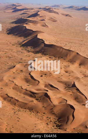 Aerial view, Namib Desert, Namib Naukluft National Park, Namibia - Stock Image