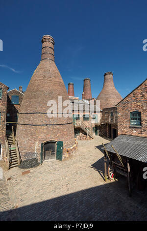 Gladstone Pottery Museum Longton Stoke on Trent Staffordshire England UK - Stock Image