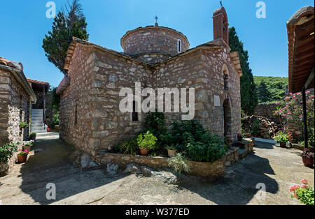 Inside Varvara Monastery, Skopelos, Northern Sporades Greece. - Stock Image