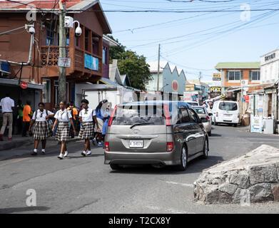 in Saint John's, Capital of Antigua and Barbuda - Stock Image