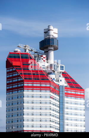 The Lilla Bommen high rise building, popularly referred to as The Lipstick, located in the center of Gothenburg, Sweden - Stock Image