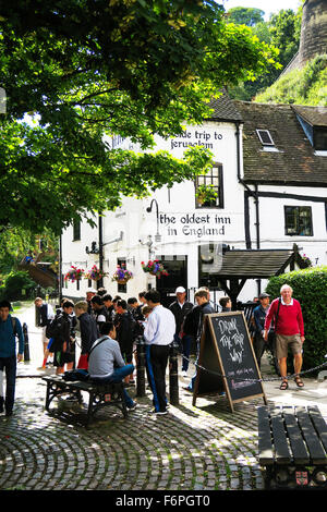 The Olde trip to Jerusalem, The oldest inn in England. - Stock Image